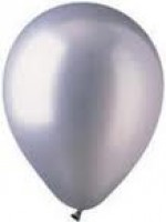 METALLIC SILVER LATEX BALLOON